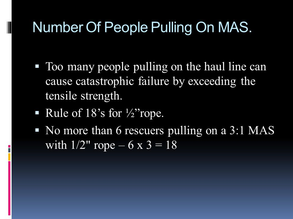 Number Of People Pulling On MAS.