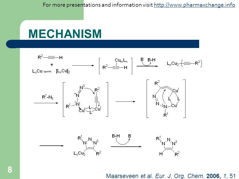 8 MECHANISM Maarseveen et al. Eur. J. Org. Chem. 2006, 1, 51 For more presentations and information visit http://www.pharmaxchange.infohttp://www.phar