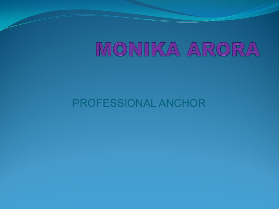 PROFESSIONAL ANCHOR