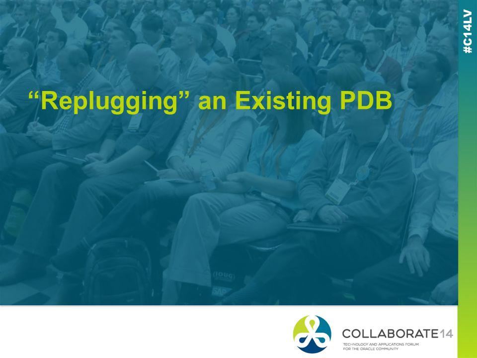 Replugging an Existing PDB