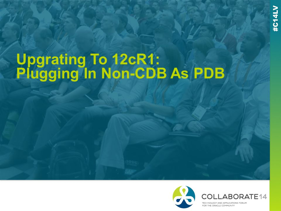 Upgrating To 12cR1: Plugging In Non-CDB As PDB