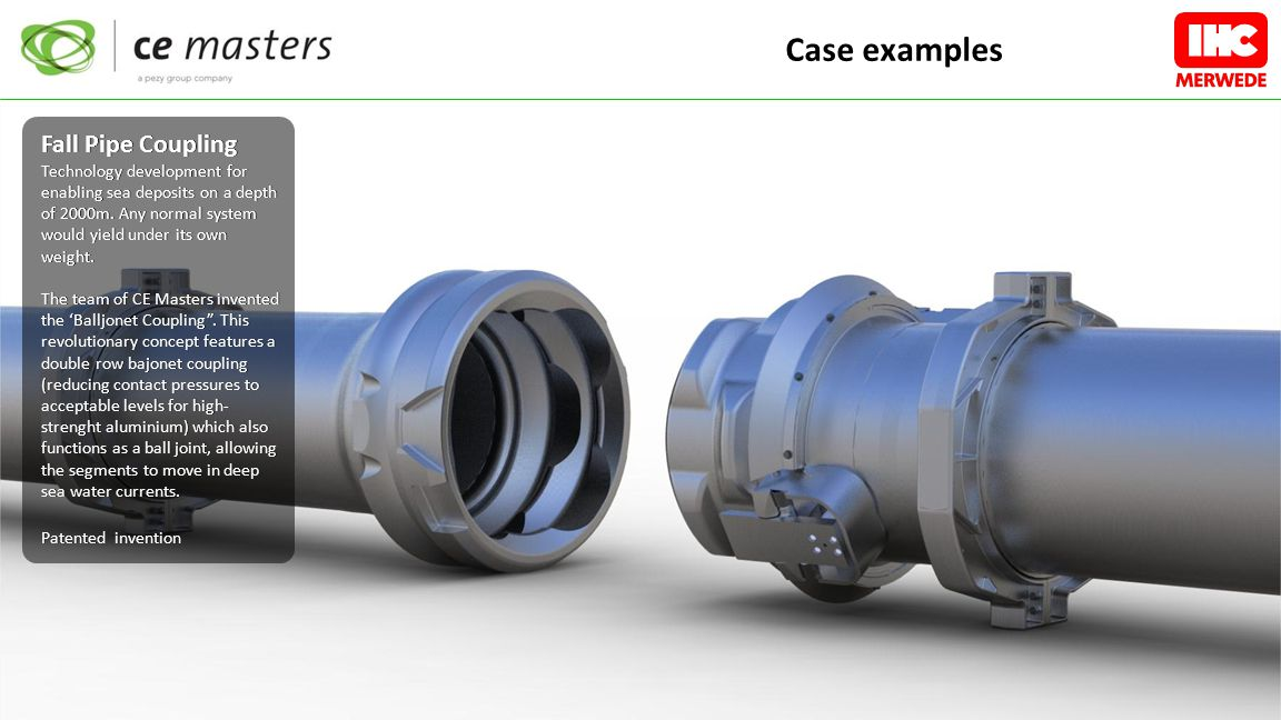 Fall Pipe Coupling Technology development for enabling sea deposits on a depth of 2000m.