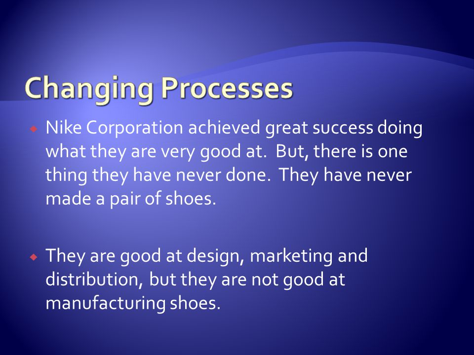 Nike Corporation achieved great success doing what they are very good at.