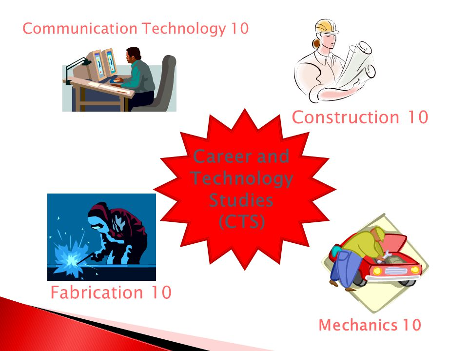 Communication Technology 10 Fabrication 10 Construction 10 Mechanics 10 Career and Technology Studies (CTS)