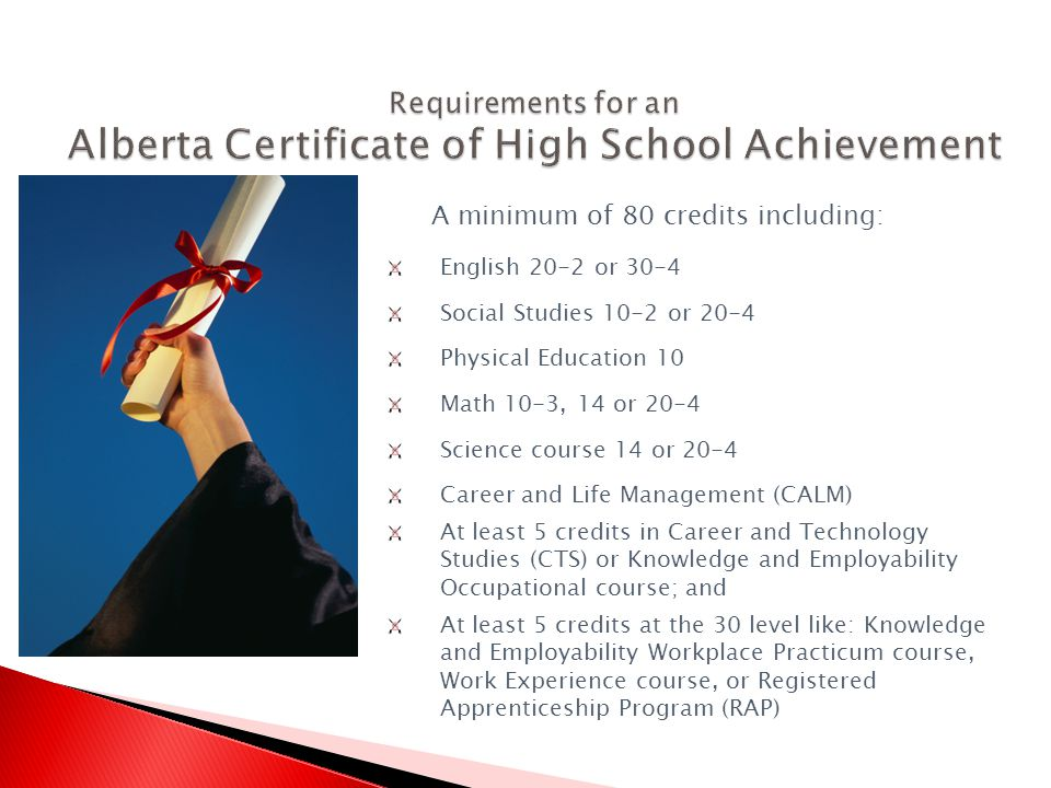 To receive a certificate of high school completion, a student must have been involved special education programming and be nominated by the principal.