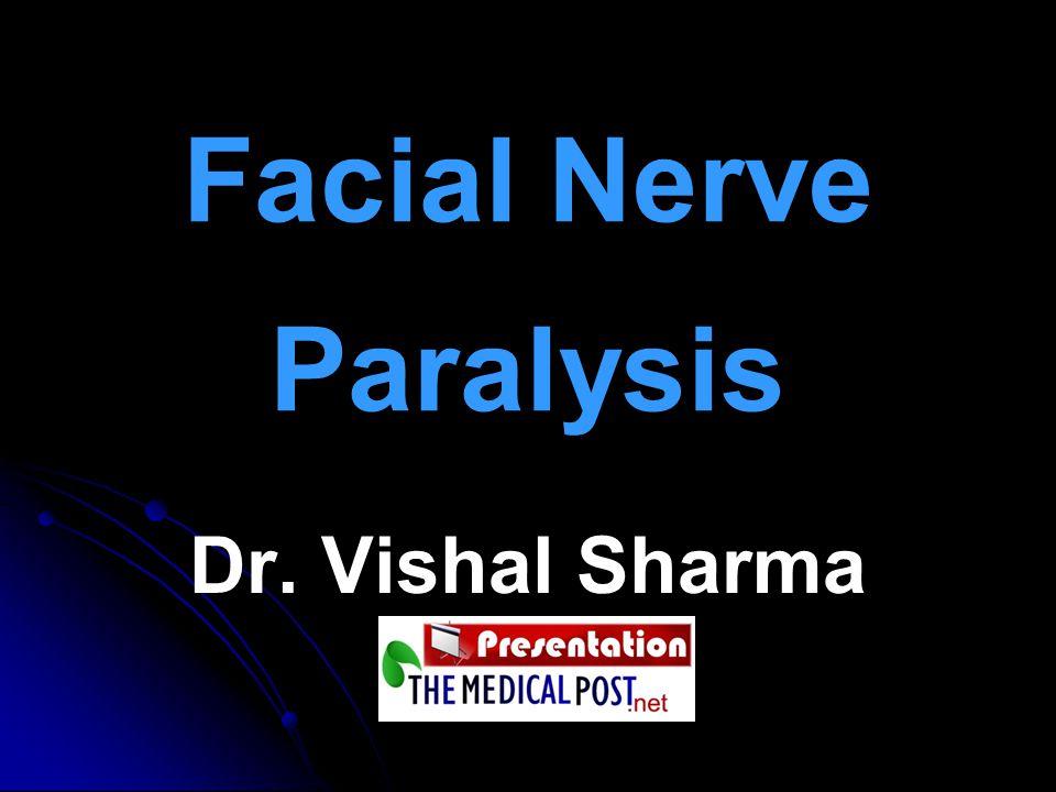 Facial Nerve Paralysis Dr. Vishal Sharma