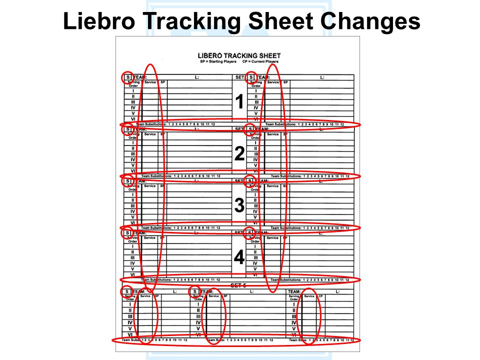 Liebro Tracking Sheet Changes
