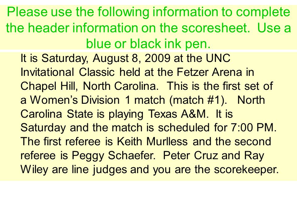 It is Saturday, August 8, 2009 at the UNC Invitational Classic held at the Fetzer Arena in Chapel Hill, North Carolina. This is the first set of a Wom
