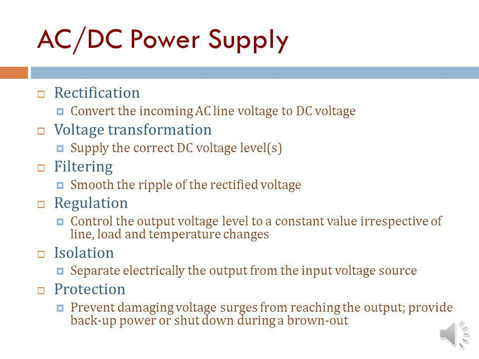 Power Conversion Circuit Basics There are three types of electronic power conversion devices in use today which are classified as follows according to