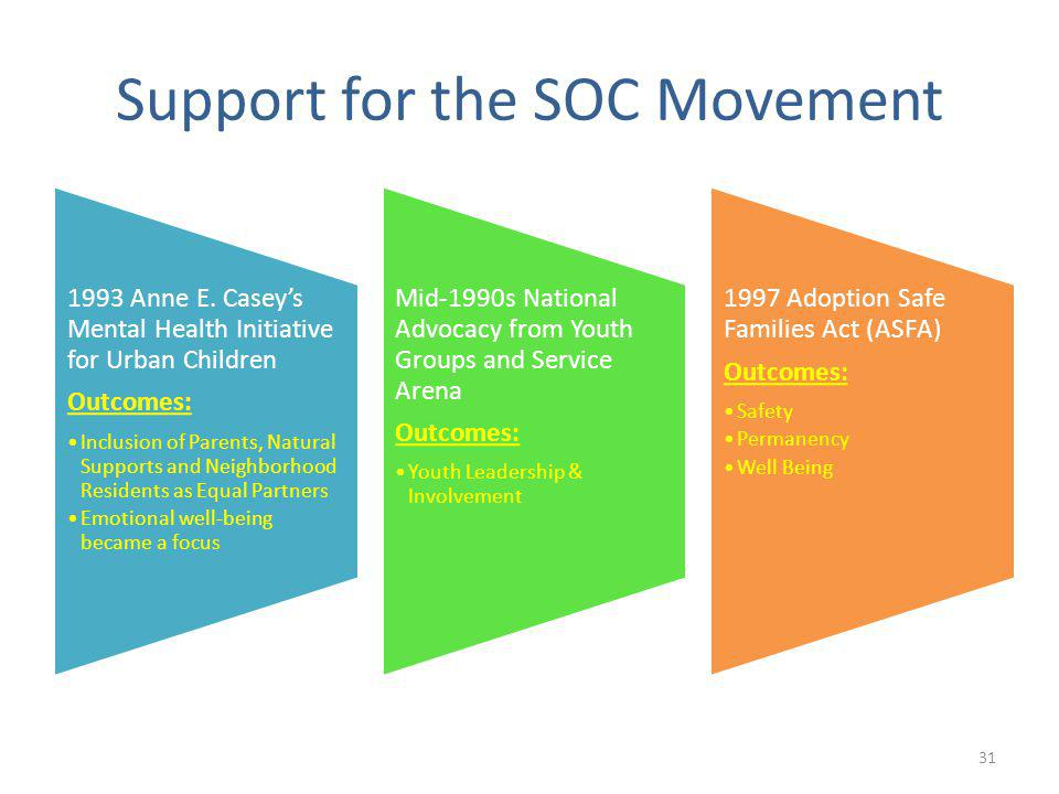31 Support for the SOC Movement 1993 Anne E.