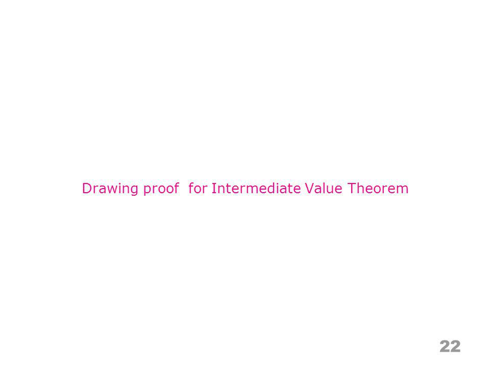 22 Drawing proof for Intermediate Value Theorem