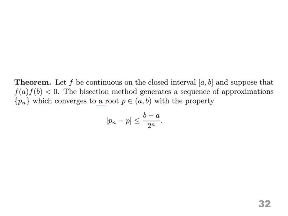32 Convergence of {p n }