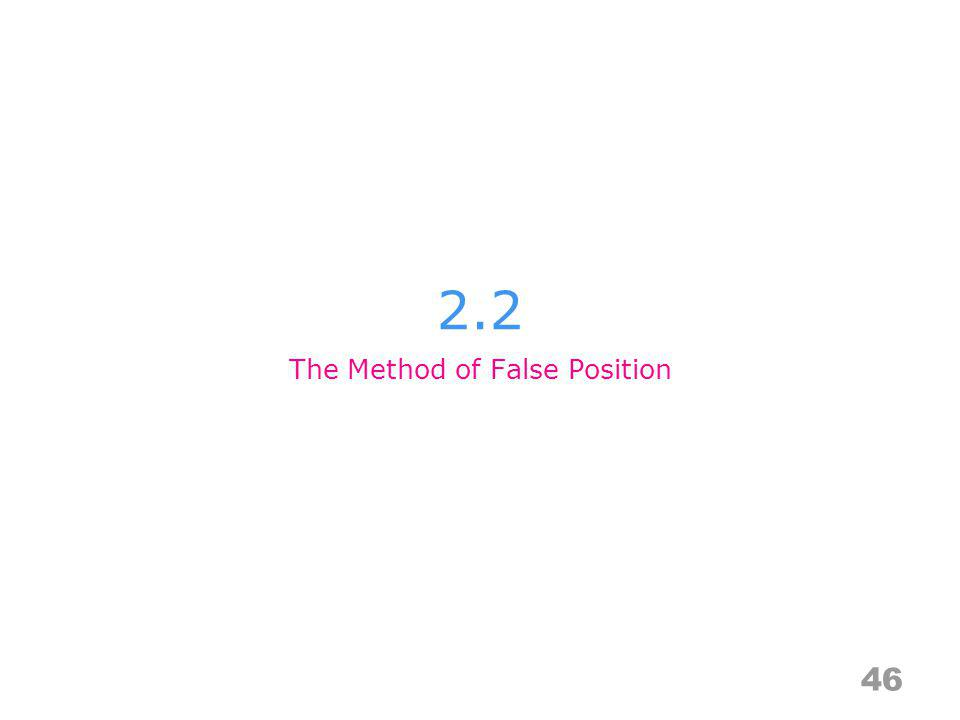2.2 46 The Method of False Position