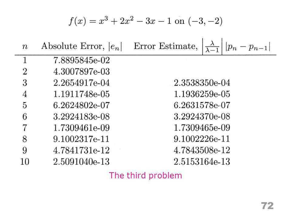 72 The third problem