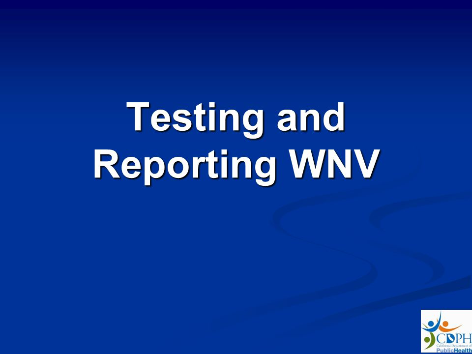 Testing and Reporting WNV