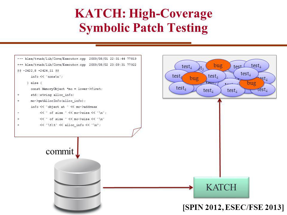 1 1 test 4 KATCH: High-Coverage Symbolic Patch Testing commit KATCH test 1 test 4 --- klee/trunk/lib/Core/Executor.cpp2009/08/01 22:31:44 77819 +++ klee/trunk/lib/Core/Executor.cpp2009/08/02 23:09:31 77922 @@ -2422,8 +2424,11 @@ info << none\n ; } else { const MemoryObject *mo = lower->first; + std::string alloc_info; + mo->getAllocInfo(alloc_info); info address - size << \n ; + size << \n + << \t\t << alloc_info << \n; test 3 test 4 bug test 4 bug test 4 [SPIN 2012, ESEC/FSE 2013]