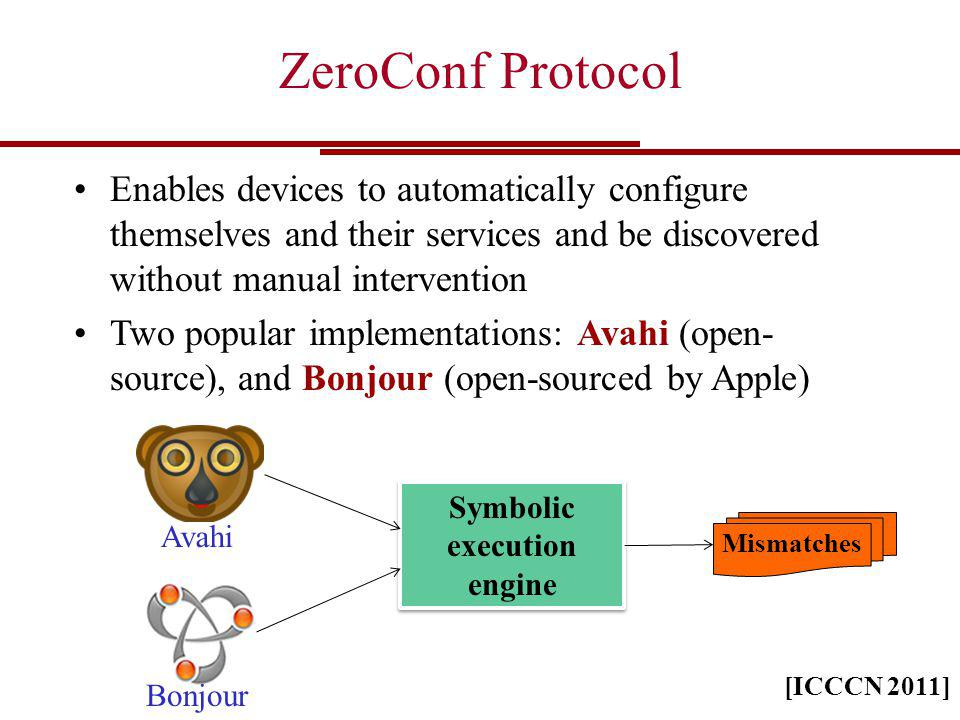 ZeroConf Protocol Enables devices to automatically configure themselves and their services and be discovered without manual intervention Two popular i