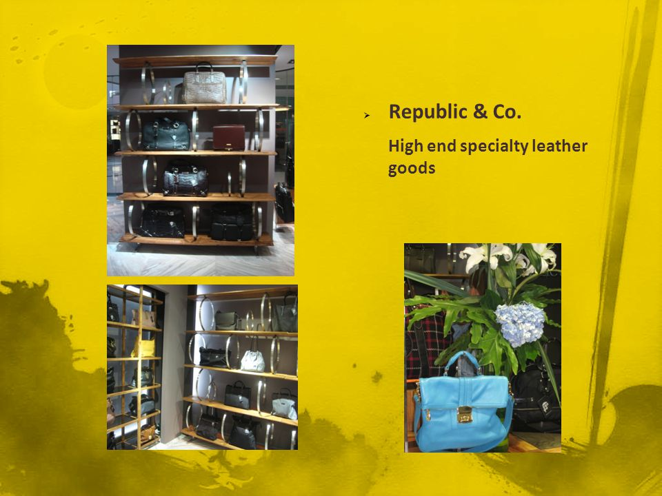 Republic & Co. High end specialty leather goods