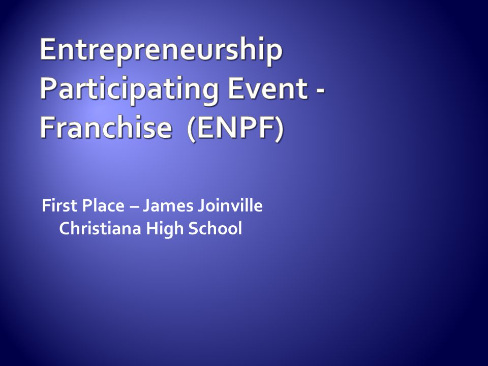 First Place – James Joinville Christiana High School