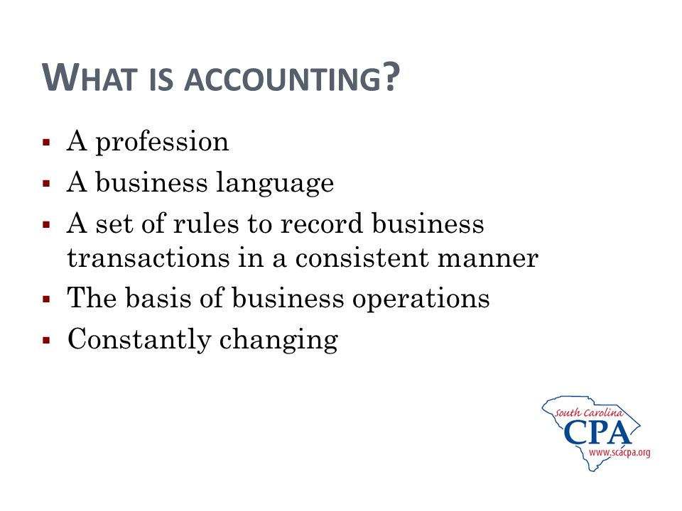 W HAT IS ACCOUNTING .