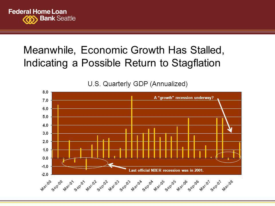 Meanwhile, Economic Growth Has Stalled, Indicating a Possible Return to Stagflation U.S.