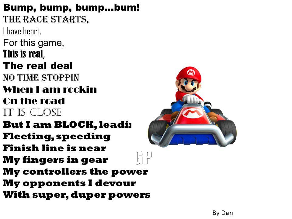 Bump, bump, bump…bum.