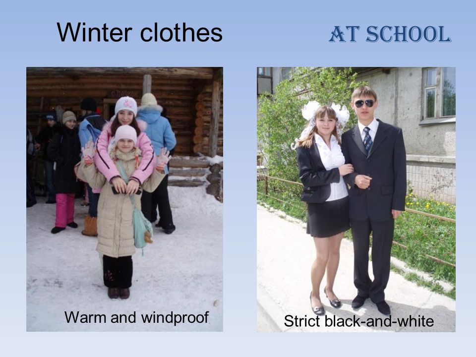 Winter clothes Warm and windproof AT School Strict black-and-white