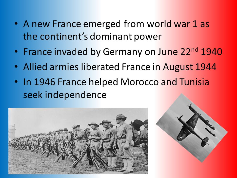 French History Has been settled since Paleolithic times In 600 BC Greeks and Phoenicians arrived 1328 France was the most powerful nation in Europe with a population of 15 Million After a series of foreign wars that wrecked the government, the French Revolution plunged France into a bloodbath beginning in 1789