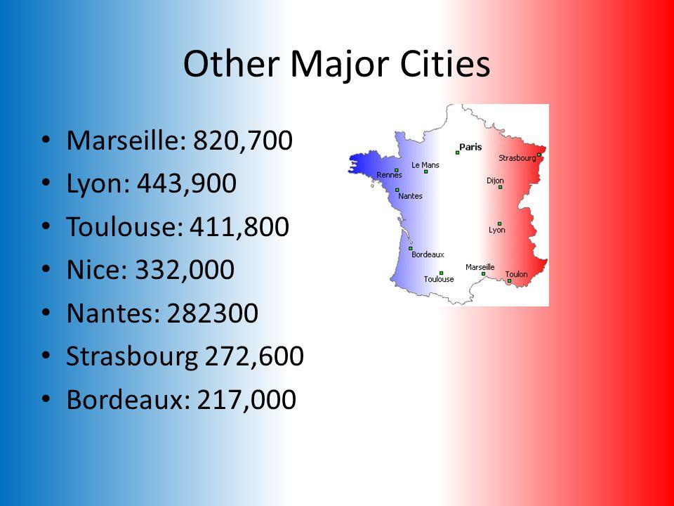 Capital : Paris Population : 9,854,000 (metro area) 2,110,400 (city proper)