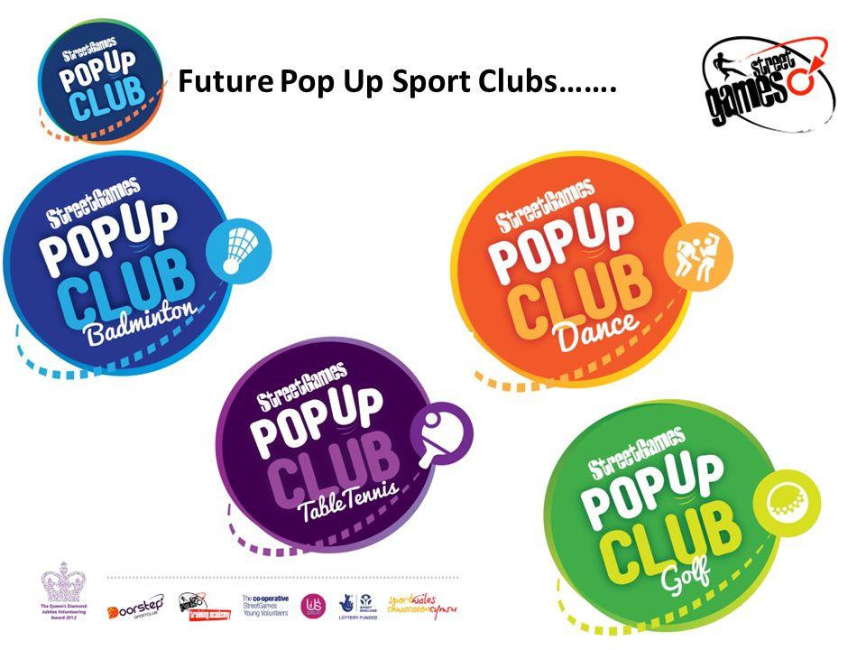 Future Pop Up Sport Clubs…….
