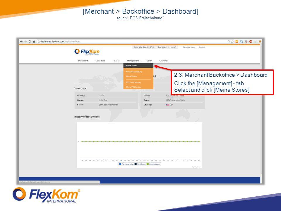 [Merchant > Backoffice > Dashboard] touch: POS Freischaltung 2.3.