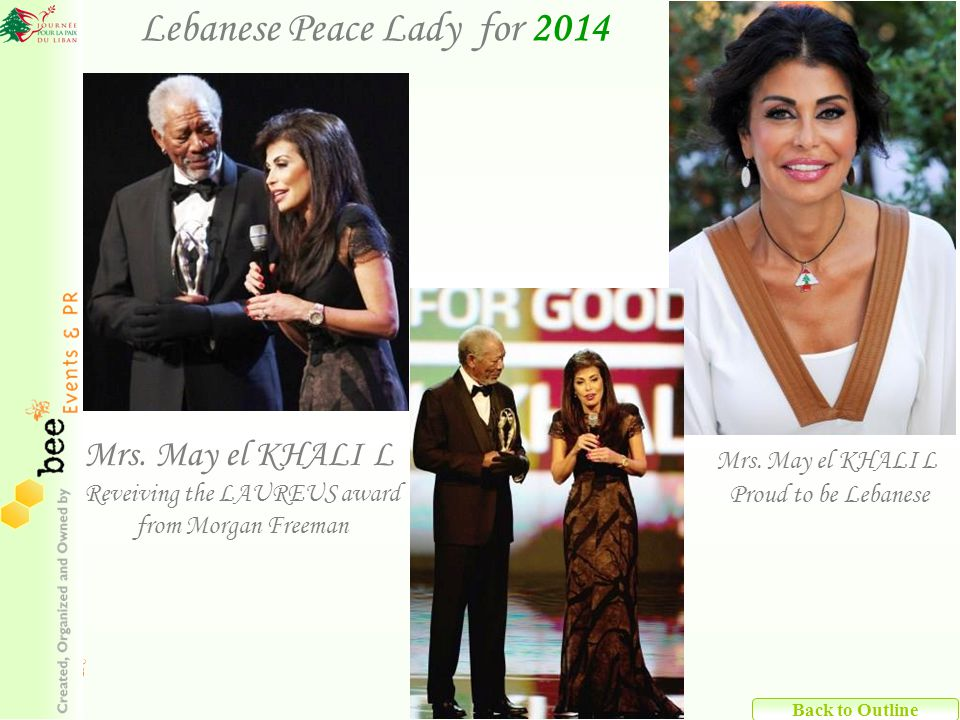 Lebanese Peace Lady for 2014 Back to Outline Mrs.