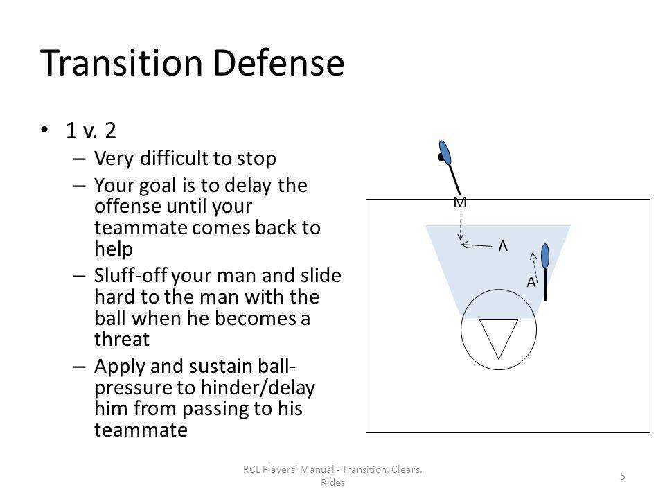 Pressure Adjustment RCL Players Manual - Transition, Clears, Rides 36