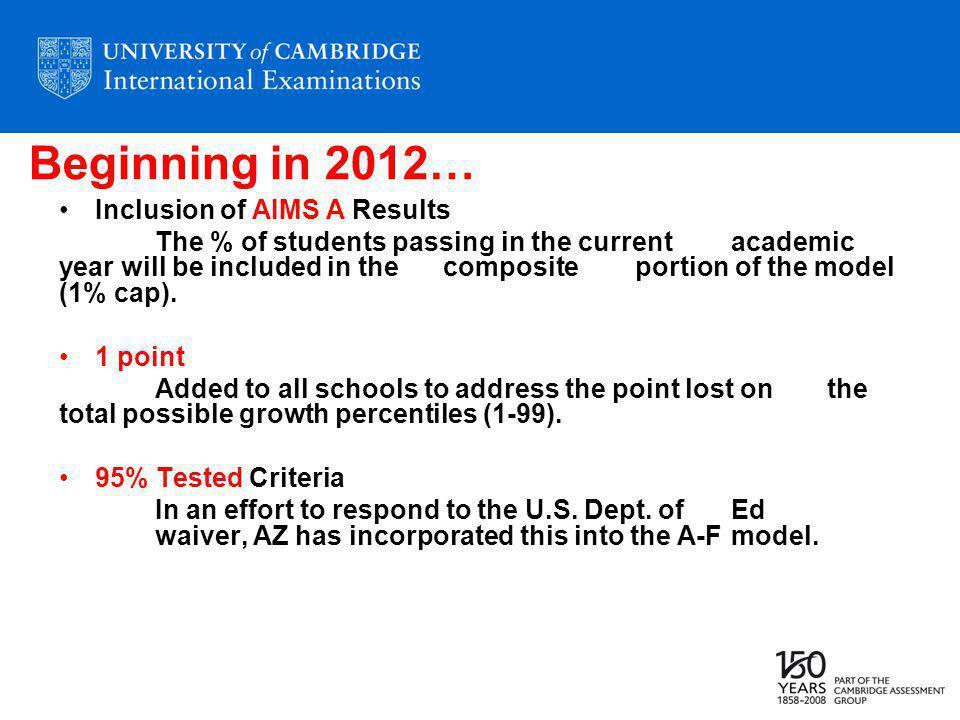 Cambridge Program Levels Grand Canyon Diploma Option Grade 9-10 All Students Grade 11-12 University Preparation