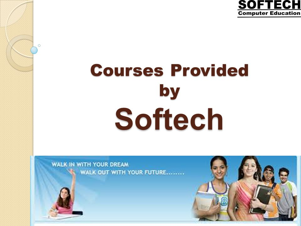 Courses Provided by Softech