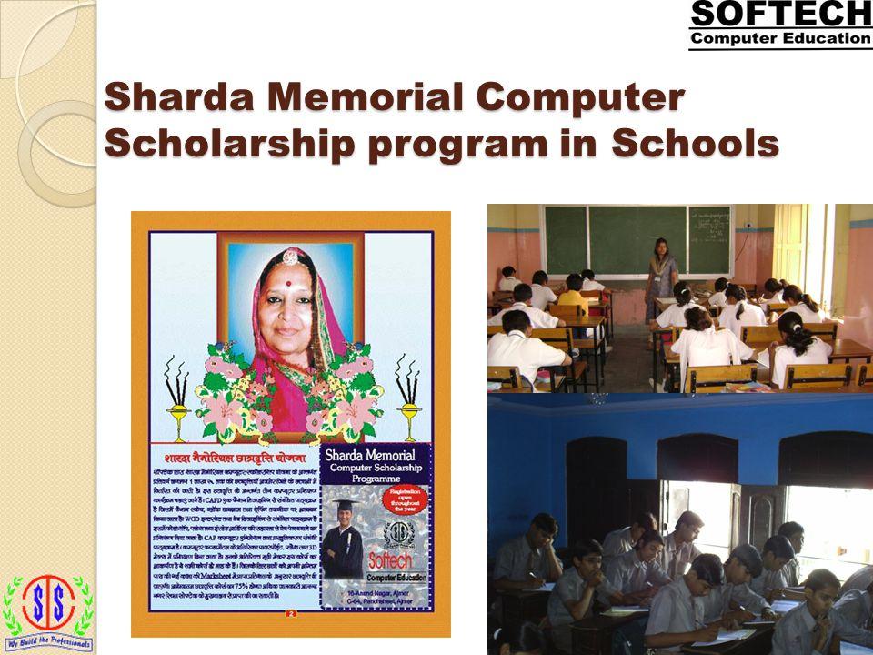 Sharda Memorial Computer Scholarship program in Schools