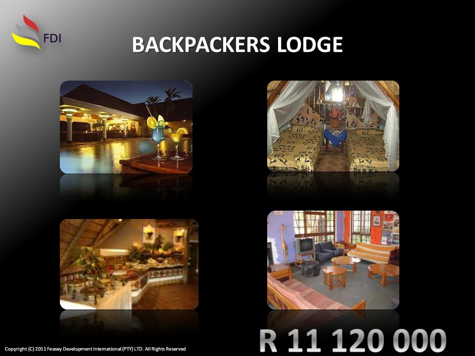 BACKPACKERS LODGE Copyright (C) 2011 Feasey Development International (PTY) LTD.