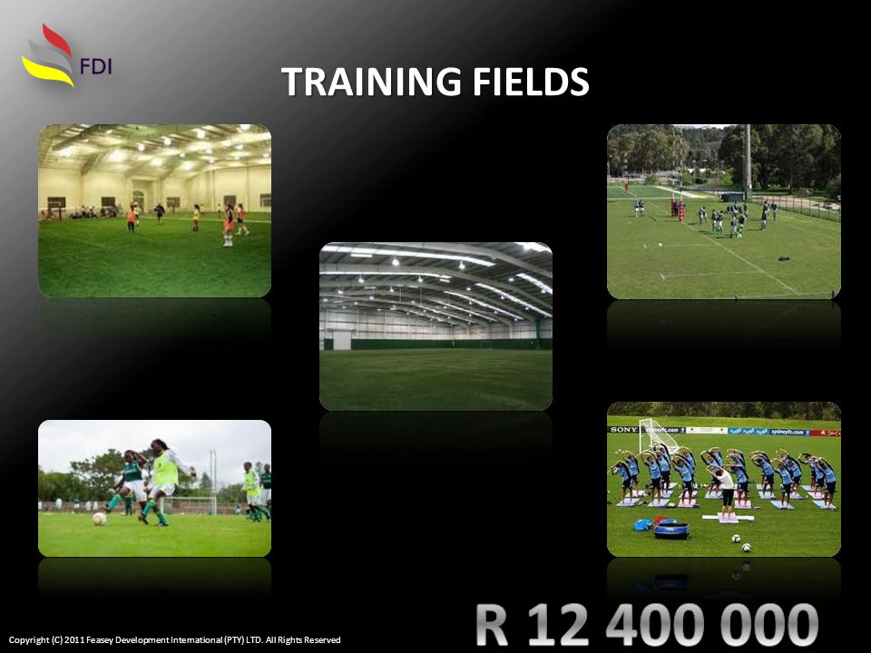 TRAINING FIELDS Copyright (C) 2011 Feasey Development International (PTY) LTD. All Rights Reserved