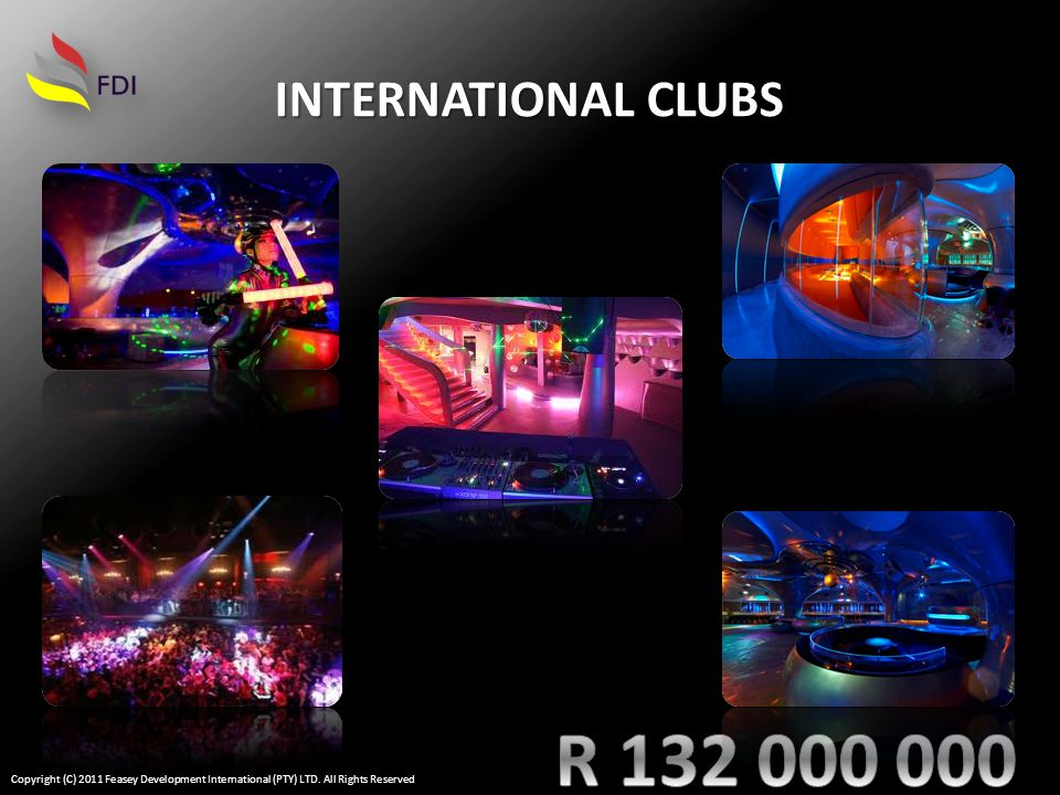 INTERNATIONAL CLUBS Copyright (C) 2011 Feasey Development International (PTY) LTD.