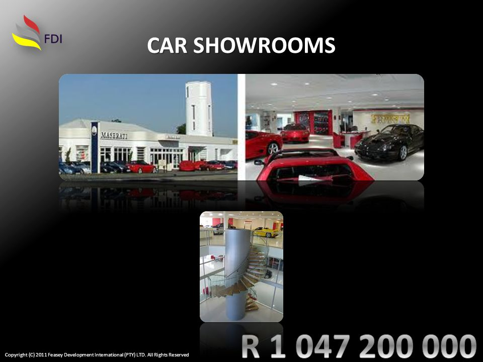 CAR SHOWROOMS Copyright (C) 2011 Feasey Development International (PTY) LTD. All Rights Reserved