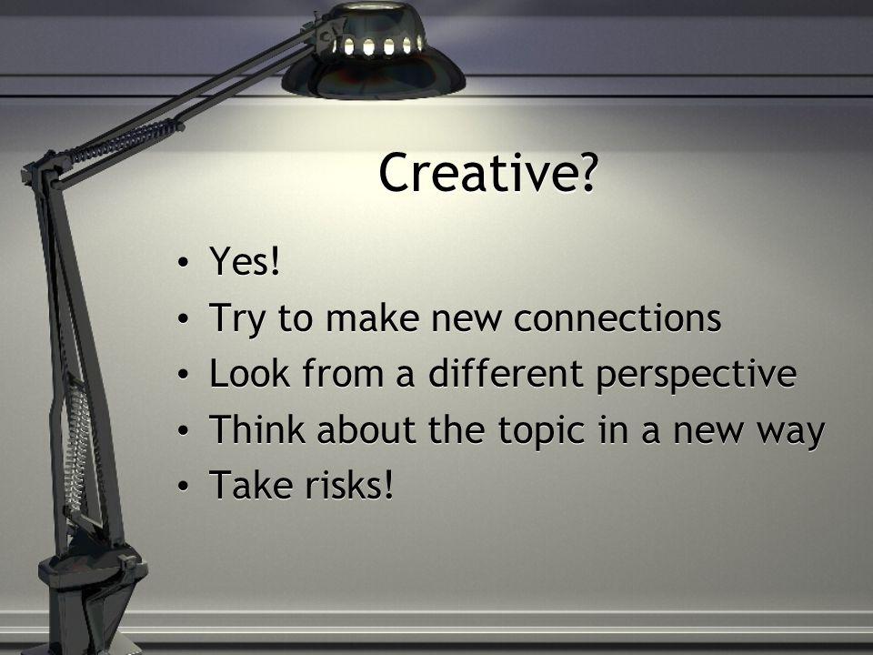 Creative.Yes.