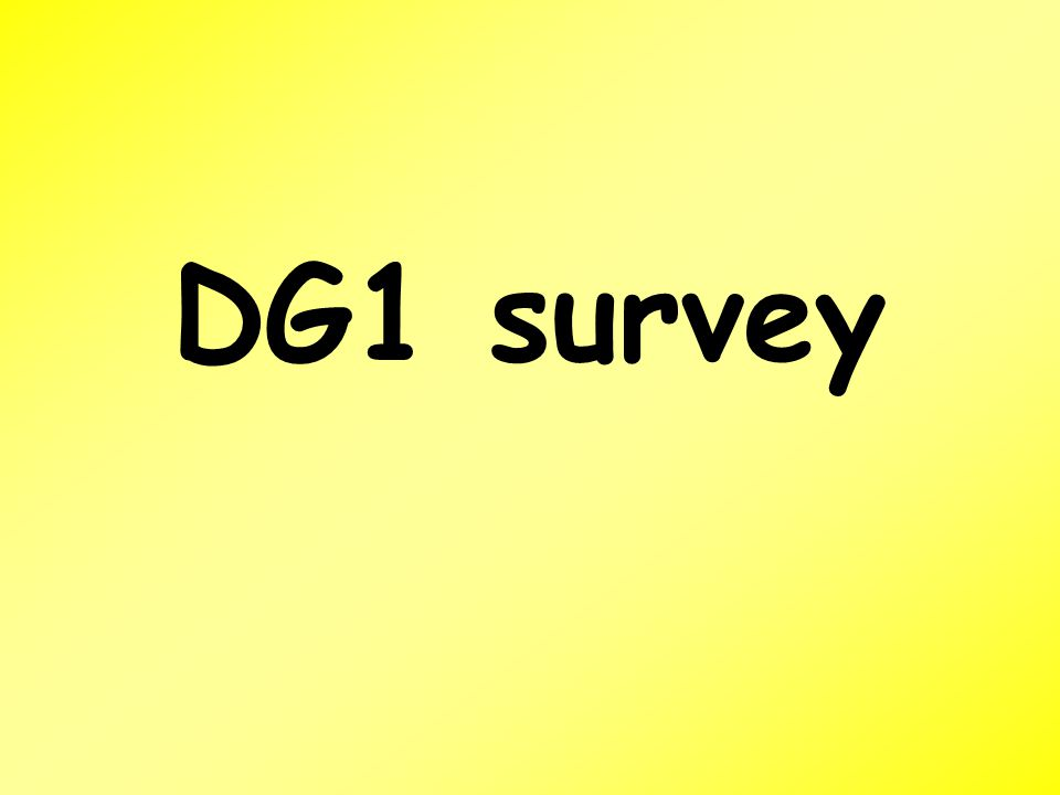 DG1 survey