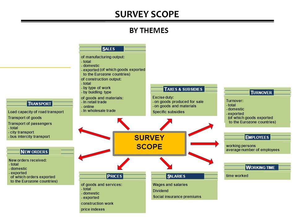 SURVEY SCOPE BY THEMES SURVEY SCOPE