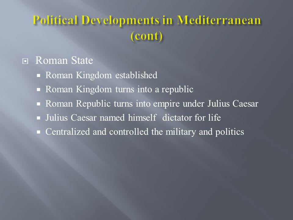 Greece Mycenaean and Minoan societies decline Poleis rise Athenians begin democracy Imperial rule by Macedonians Antigonid, Ptolemaic, and Seleucid Em