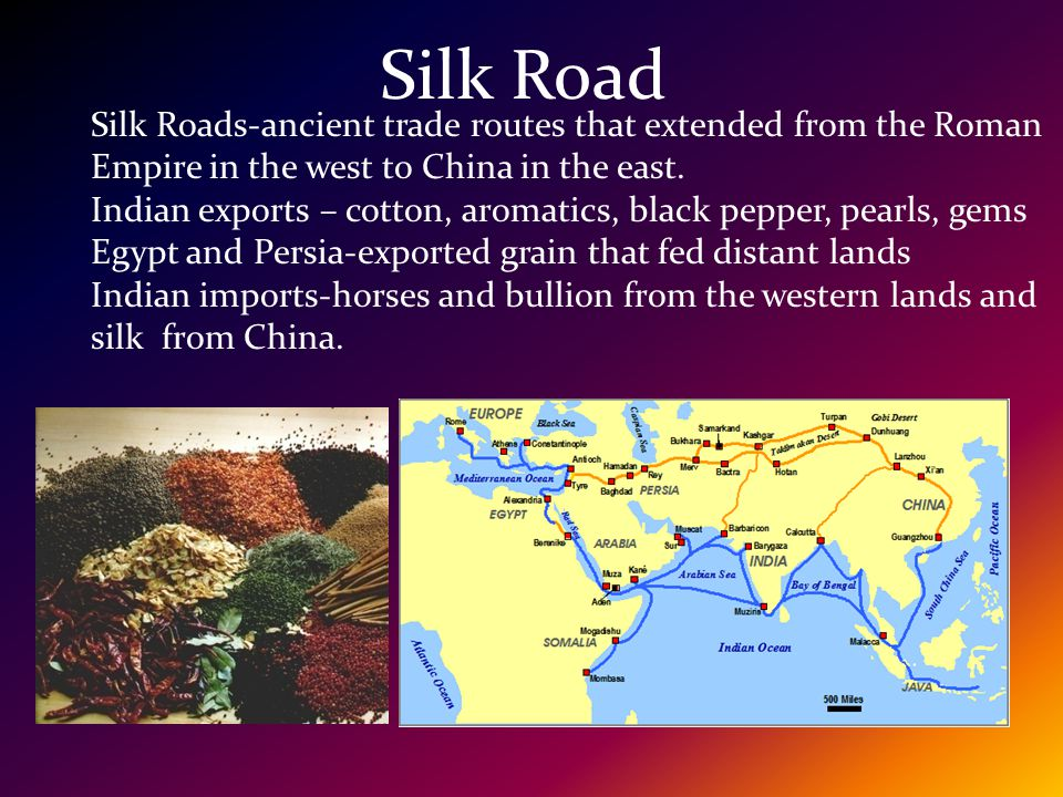 Interregional Networks Trade- There was the Silk Road that went from the Mediterranean to China. There was the monsoon system that made travel across