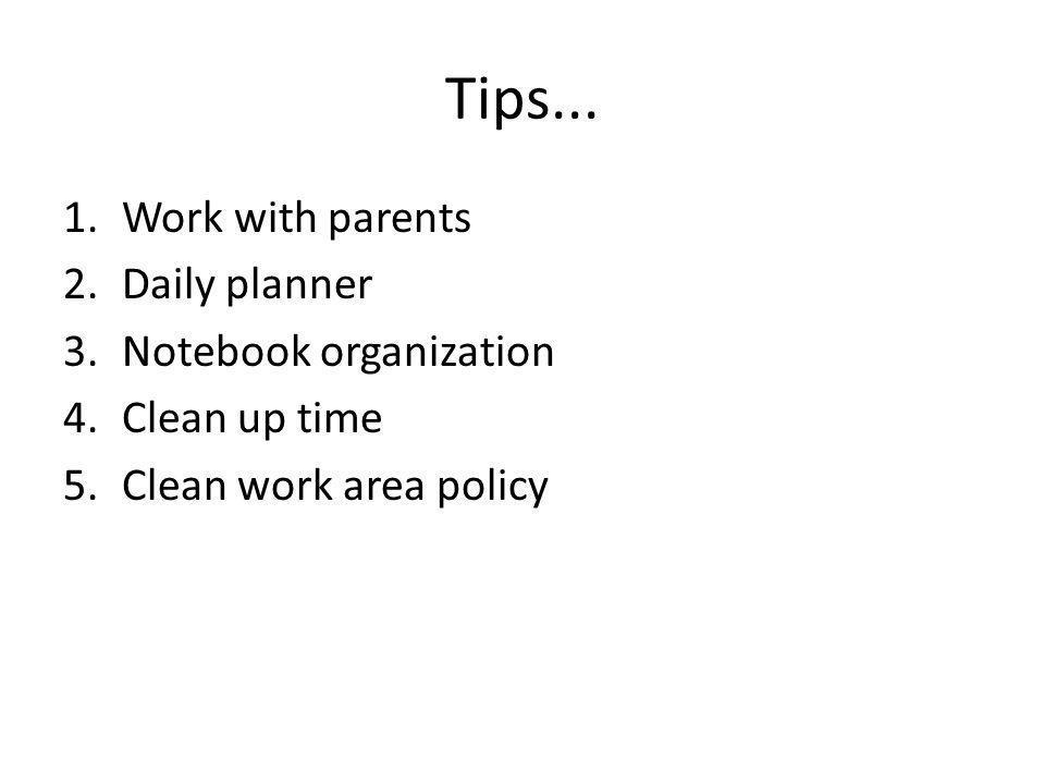 Tips...