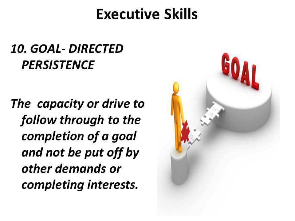Executive Skills 10.