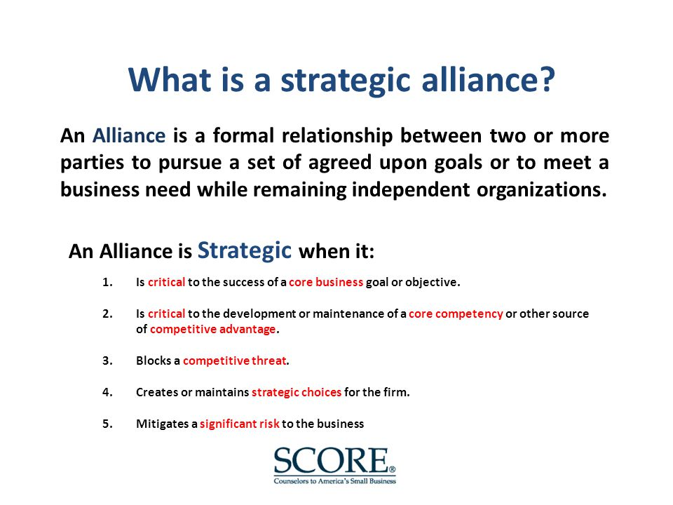 What is the real value of a strategic alliance?