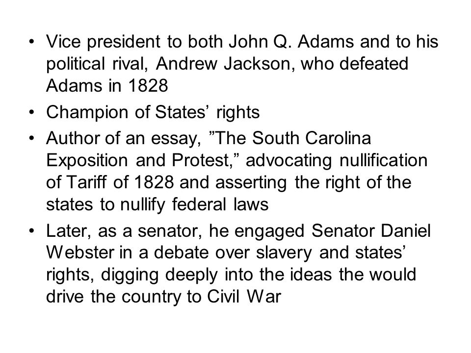Vice president to both John Q.
