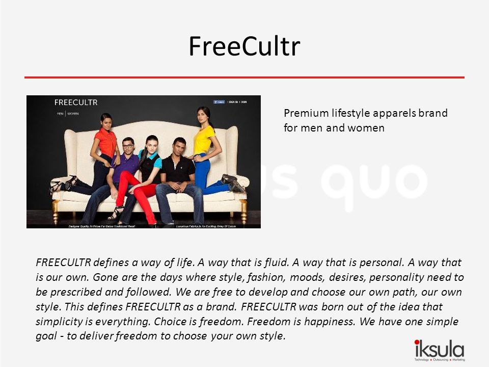 FreeCultr Premium lifestyle apparels brand for men and women FREECULTR defines a way of life.